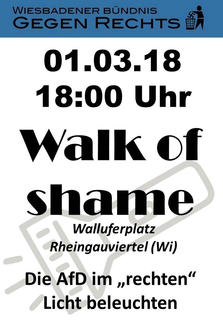 Walk of shame - keine AfD im Rheingauviertel